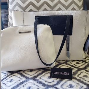 Steve Madden 2 in 1 Tote Bag NWT